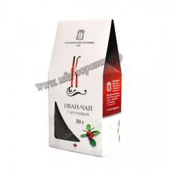Иван-чай с брусникой коробка, 50 г