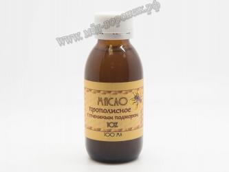 Масло прополисное с пчелиным подмором 10%
