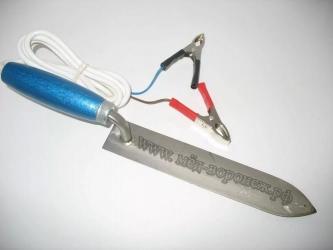 Нож для распечатки сот 12 В (сталь)